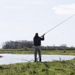 Lystfiskerpremiere på laksefiskeriet i Skjern Å